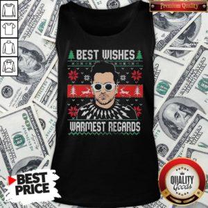 Good Schitt's Creek Best Wishes Warmest Regards Ugly Christmas Tank Top