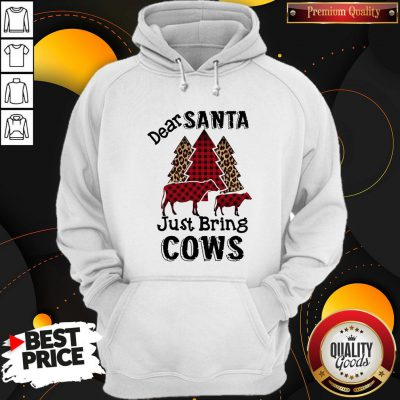 Hot Dear Santa Just Bring Cows Hoodie