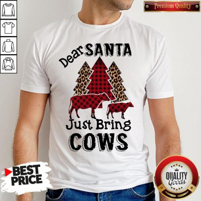 Hot Dear Santa Just Bring Cows Shirt
