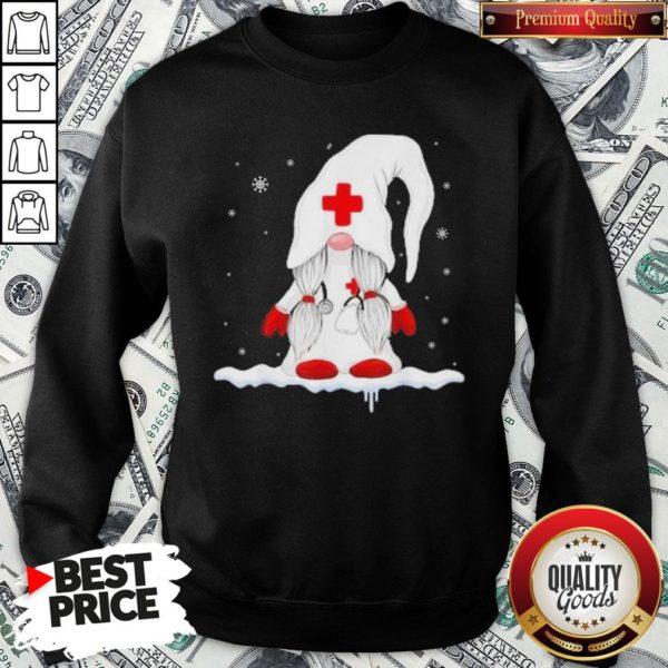 Hot Gnome Nurse Christmas SweatShirt