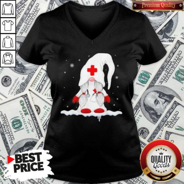 Hot Gnome Nurse Christmas V-neck