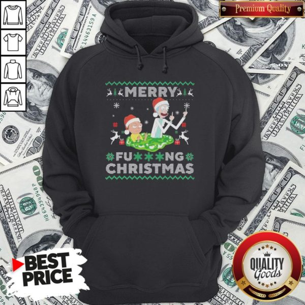 Hot Santa Rick And Morty Merry Fucking Christmas Hoodie