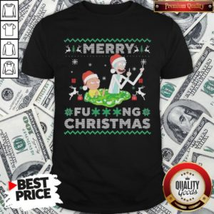 Hot Santa Rick And Morty Merry Fucking Christmas Shirt