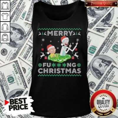 Hot Santa Rick And Morty Merry Fucking Christmas Tank Top