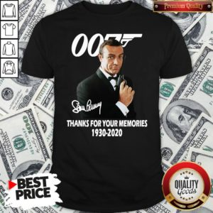 Hot Sean Connery 007 Thanks For The Memories 1930-2020 Signature Shirt