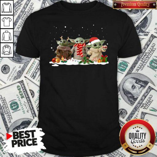 Hot Three Baby Yoda Christmas Shirt