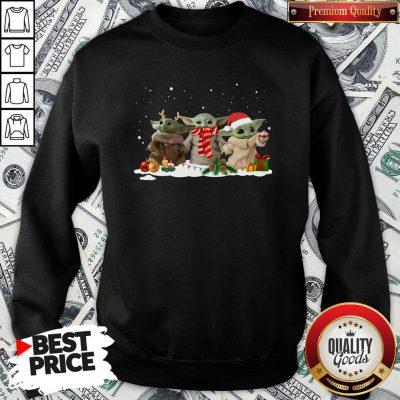 Hot Three Baby Yoda Christmas SweatShirt