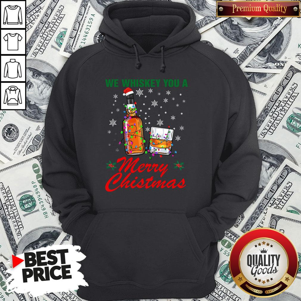 Hot We Whiskey You A Merry Christmas Ugly Hoodie
