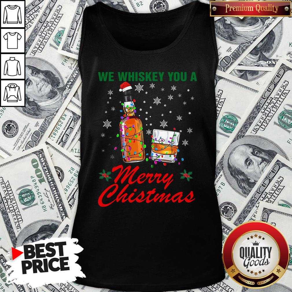 Hot We Whiskey You A Merry Christmas Ugly Tank Top