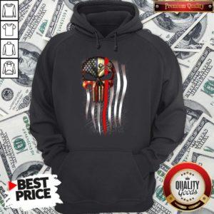 Nice American Flag Proud Machinist Skull Hoodie