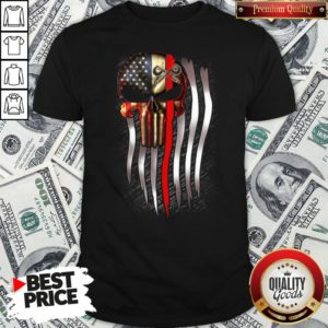 Nice American Flag Proud Machinist Skull Shirt