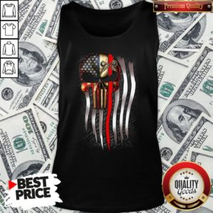 Nice American Flag Proud Machinist Skull Tank Top