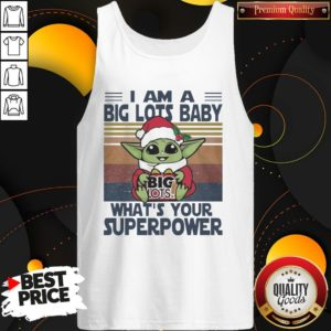Nice Baby Yoda Santa Hug Big Lots What's Your Superpower Vintage Tank Top