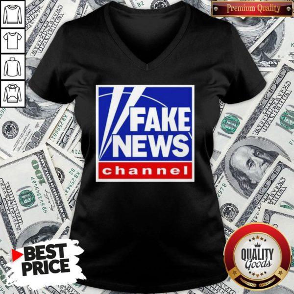 Nice Fake News Channel V-neck