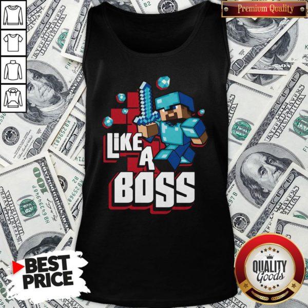 Nice JINX Minecraft Big Boys' Like A Boss Tank Top