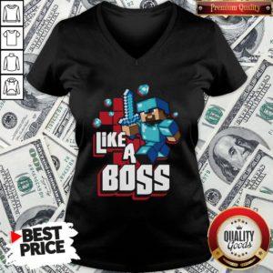 Nice JINX Minecraft Big Boys' Like A Boss V-neck