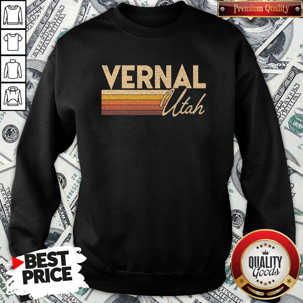 Nice Retro 80s Style Vernal UT Utah SweatShirt