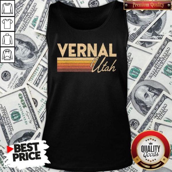Nice Retro 80s Style Vernal UT Utah Tank Top