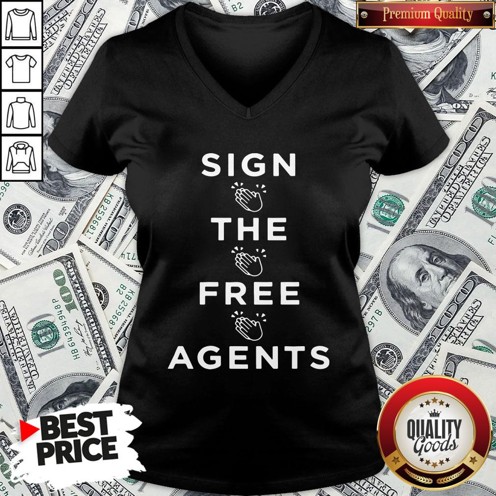 Nice Sign The Free Agents V-neck
