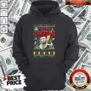 Nice Ugly Christmas Rick And Morty Merry Schwiftmas Hoodie