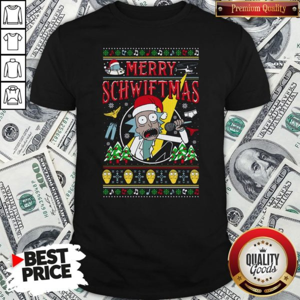Nice Ugly Christmas Rick And Morty Merry Schwiftmas Shirt