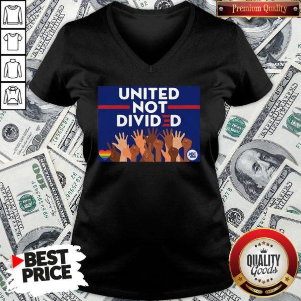 Nice United Not Divided Joe Biden 2020 V-neck