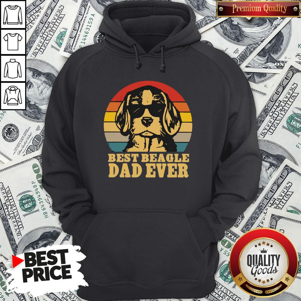 Official Best Beagle Dad Ever Vintage Hoodie