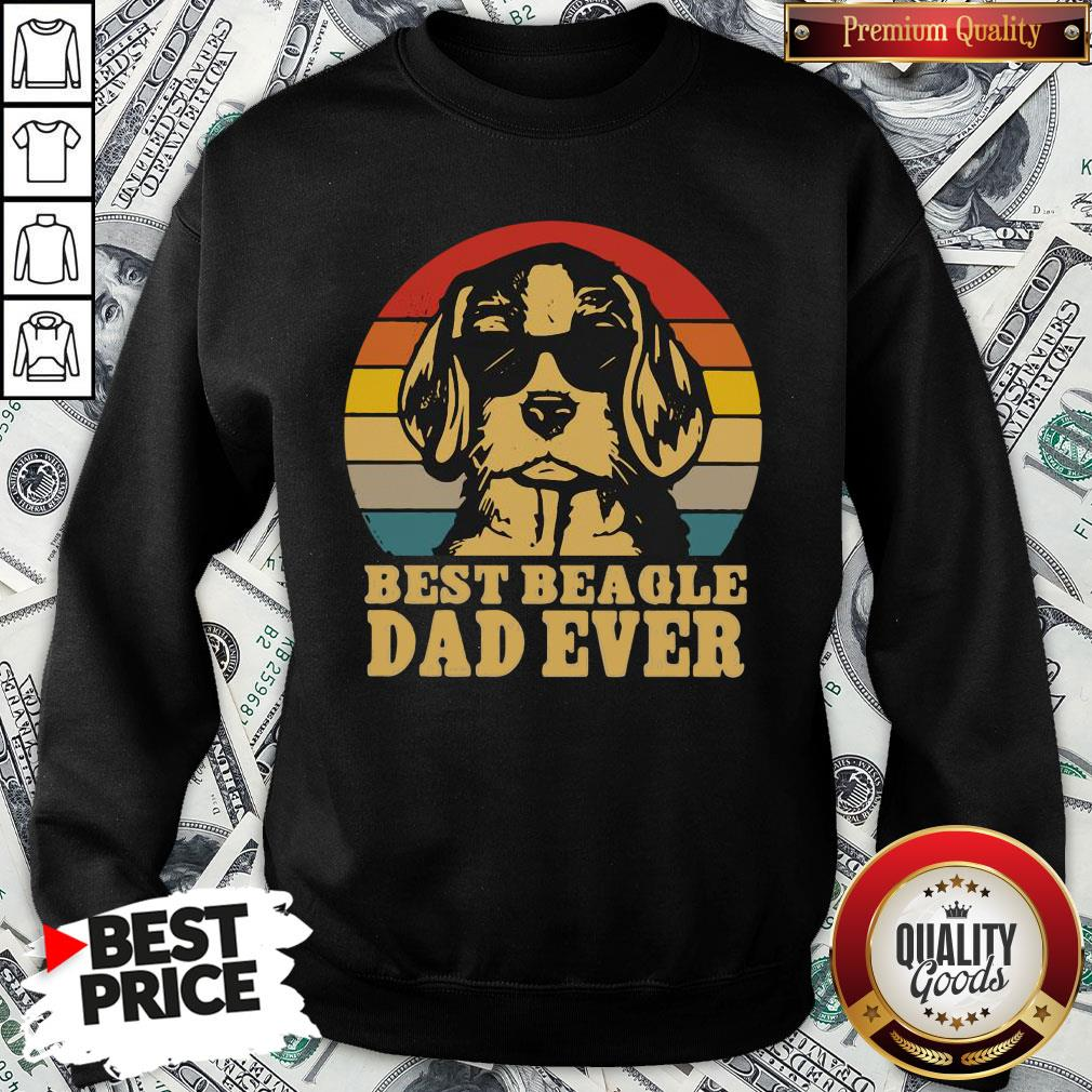 Official Best Beagle Dad Ever Vintage SweatShirt