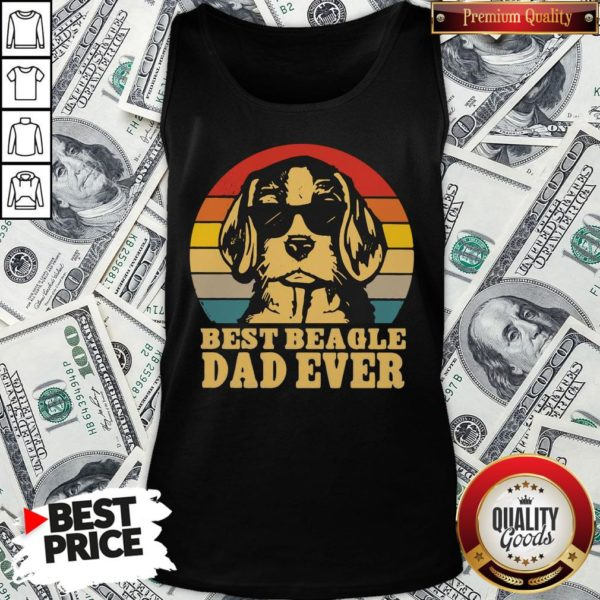 Official Best Beagle Dad Ever Vintage Tank Top