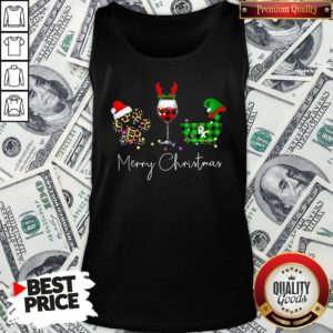 Official Paw Dog Wine Coffee Elf Merry Christmas Tank Top