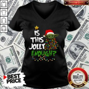 Official Santa Baby Yoda Is This Jolly Enough Christmas V-neck