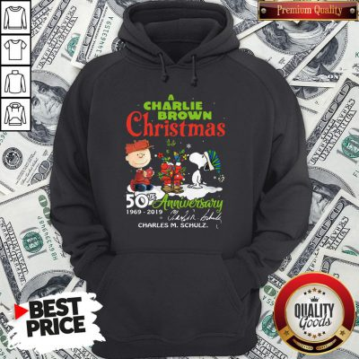 Official Snoopy And A Charlie Brown Christmas 50th Anniversary 1969-2019 Hoodie