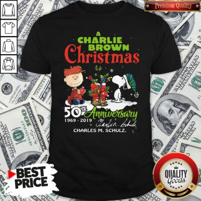 Official Snoopy And A Charlie Brown Christmas 50th Anniversary 1969-2019 Shirt