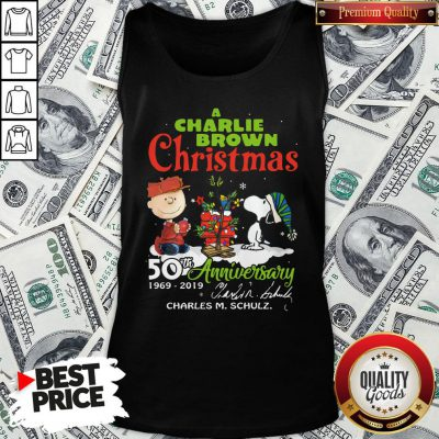 Official Snoopy And A Charlie Brown Christmas 50th Anniversary 1969-2019 Tank Top