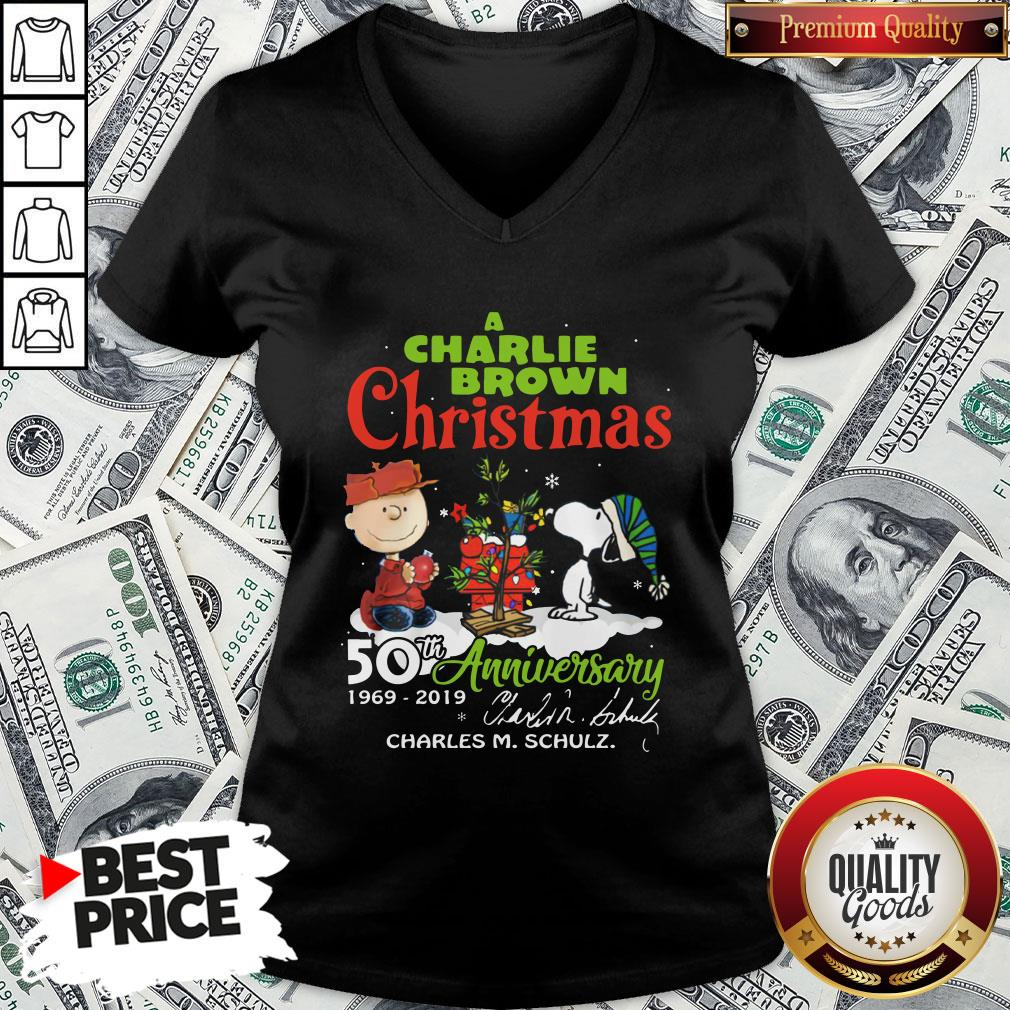 Official Snoopy And A Charlie Brown Christmas 50th Anniversary 1969-2019 V-neck