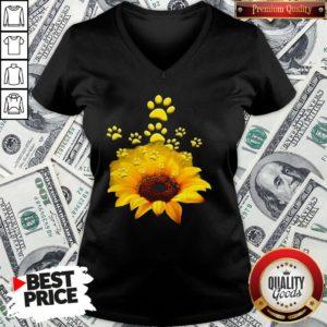 Official Sunflower Dog Funny V-neck
