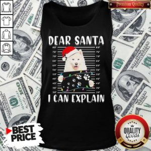 Original Dear Santa I Can Explain Light Christmas Tank Top