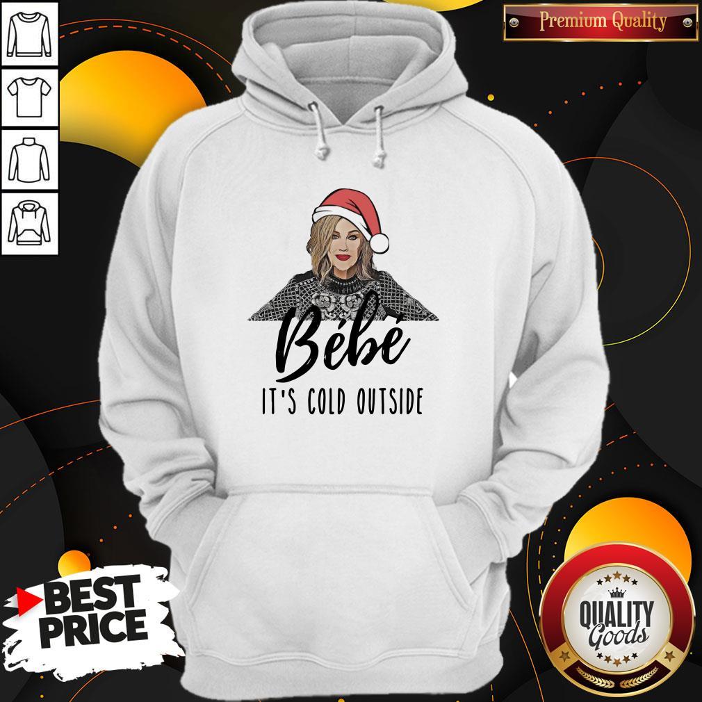 Original Moira Rose Bebe It's Cold Outside Christmas Hoodie