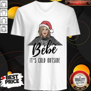 Original Moira Rose Bebe It's Cold Outside Christmas V-neck