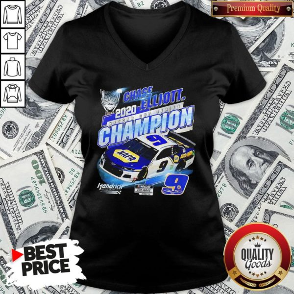 Perfect Chase Elliott 2020 Nascar Cup Series Champion V-neck