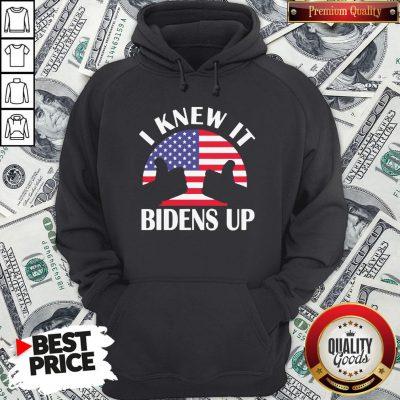 Perfect I Knew It Bidens Up Pro Biden 2020 American Flag Election Hoodie