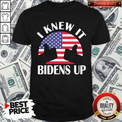 Perfect I Knew It Bidens Up Pro Biden 2020 American Flag Election Shirt