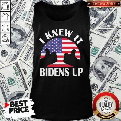 Perfect I Knew It Bidens Up Pro Biden 2020 American Flag Election Tank Top