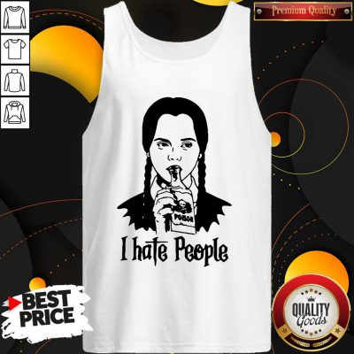 Perfect Wednesday Addams I Hate People Tank Top