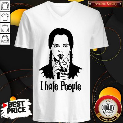 Perfect Wednesday Addams I Hate People V-neck