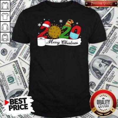 Premium 2020 Face Mask Coronavirus Toilet Paper Merry Christmas Shirt