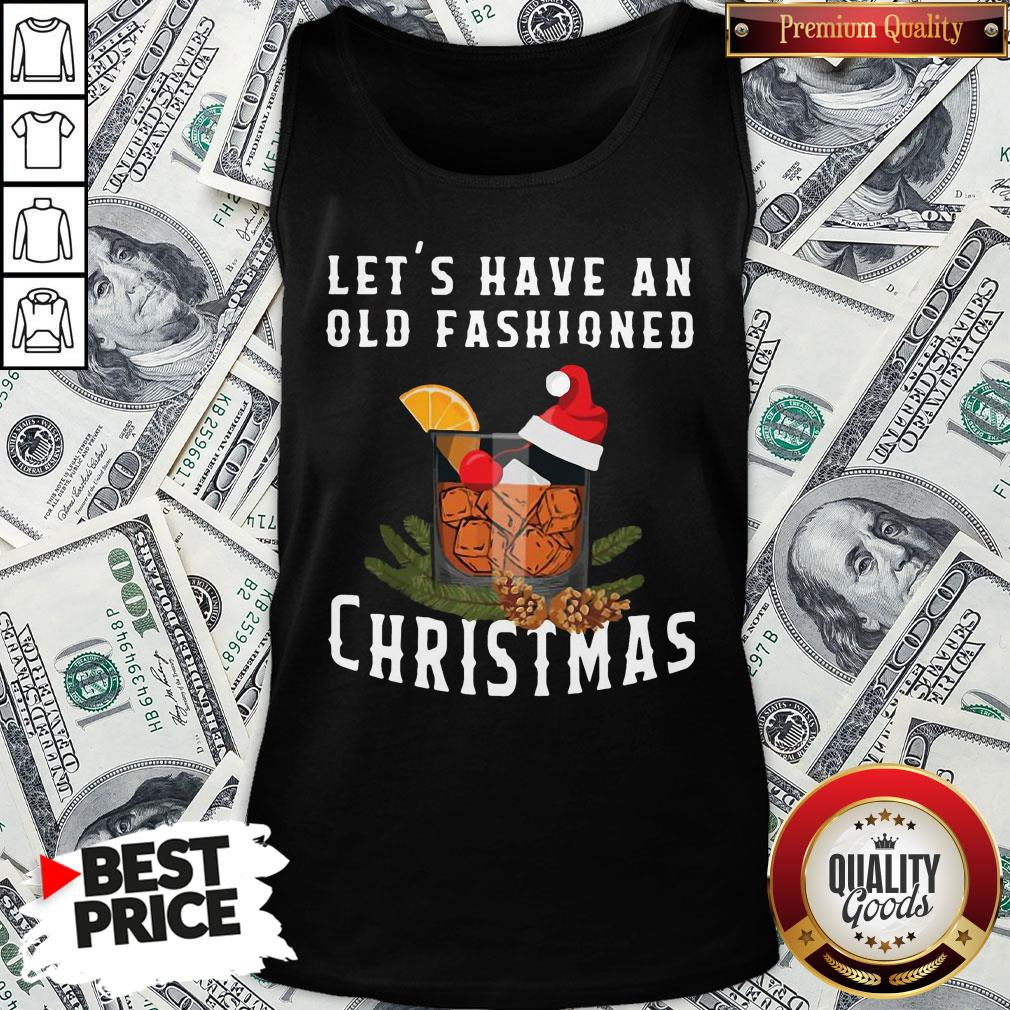Premium Bourbon Let's Have An Old Fashioned Christmas Tank Top