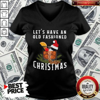 Premium Bourbon Let's Have An Old Fashioned Christmas V-neck