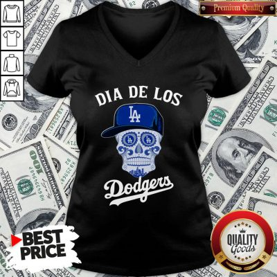 Premium Dia De Los Los Angeles Dodgers V-neck