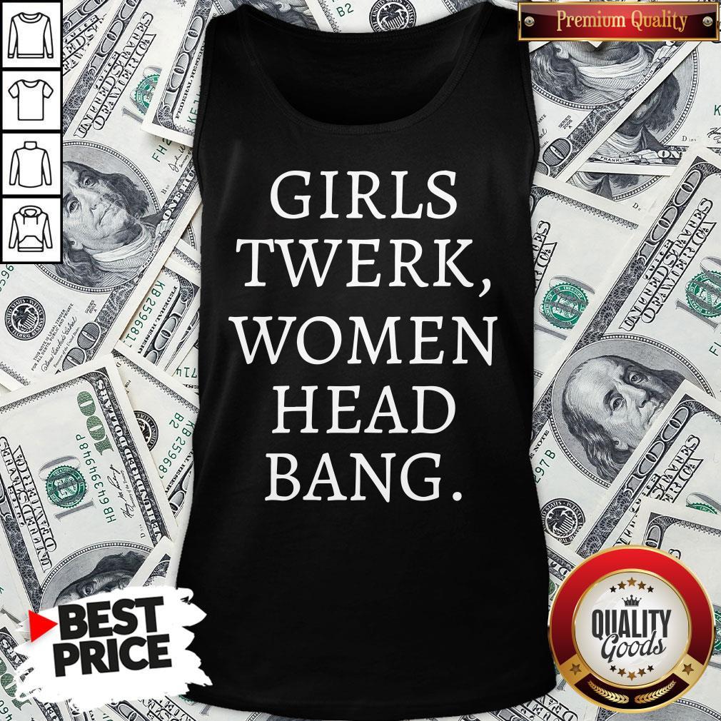 Premium Girls Twerk Woman Head Bang Tank Top